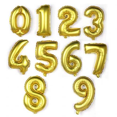 Gold / Sliver Foil Number Balloon