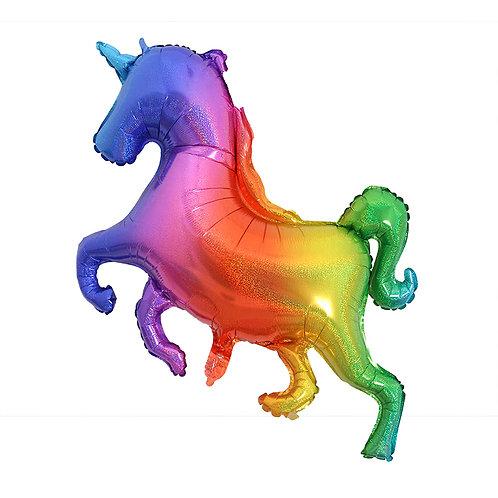 100 x 80CM Rainbow Unicorn Foil Balloon
