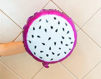 46x46cm Round Pitaya Fruit Foil Balloon