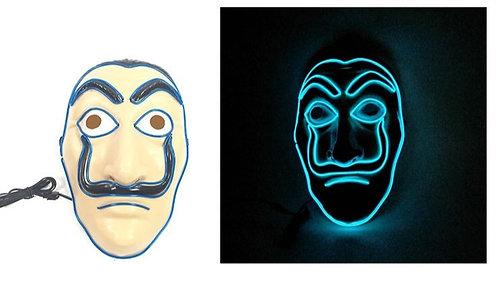 Halloween Light Up LED Salvador Dali Mask  Handmade