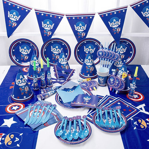 Captain America Party Table Decoration