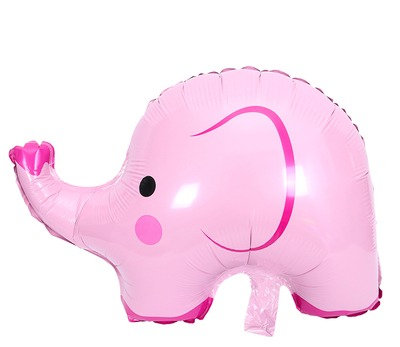 49X62CM Pink Elephant Holographic Foil Balloon