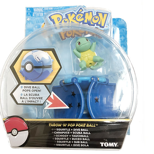Pokemon Clip N Carry Poke Ball with Squirtle Toy Set