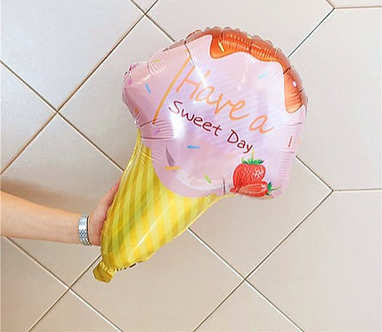 69x47cm Have a Sweet Day Pink Ice Cream Balloon