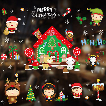 Tracless  Christmas Cute Boys and Christmas Related Decorations Sticker