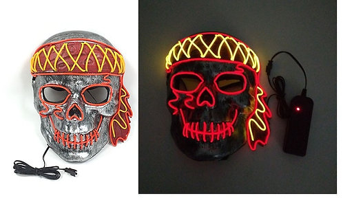 Halloween Light Up LED Pirates of The Caribbean Mask  Handmade