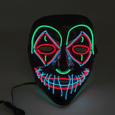 Halloween Light Up Glowing Death Skull Mask Handmade