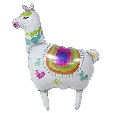 90x56CM Large White Alpaca Foil Balloon