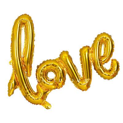 108cm X 64cm Large Love Shiny Gold Balloon