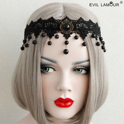 Black Lace Veil Cover Headdress