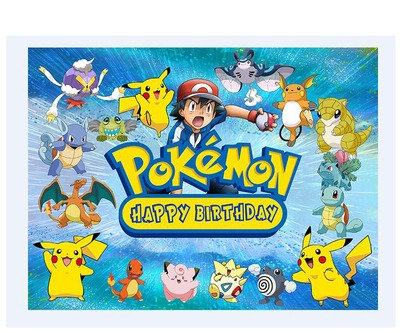 1.5m*1m Pokemon Go Backdrop Polyester Material