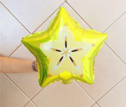 46x46cm Pentagram Carambola Fruit Foil Balloon
