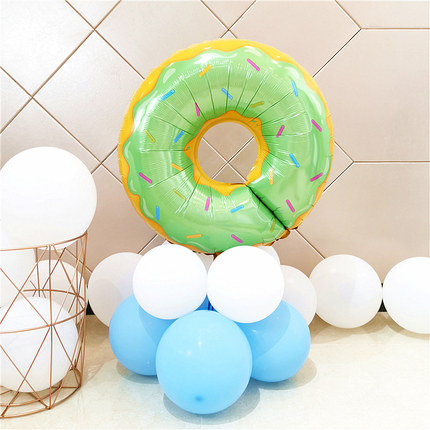 Green Donut Balloon Set