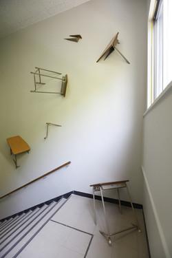 Projektion von Zukunft. Treppenhaus
