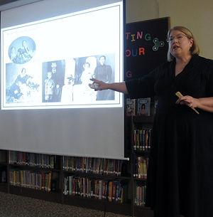 Kathy Wilson making a presentation