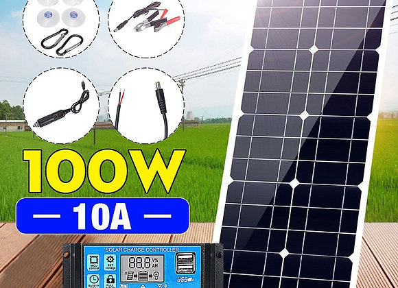 100w flexible solar panel with 10A PWM controller