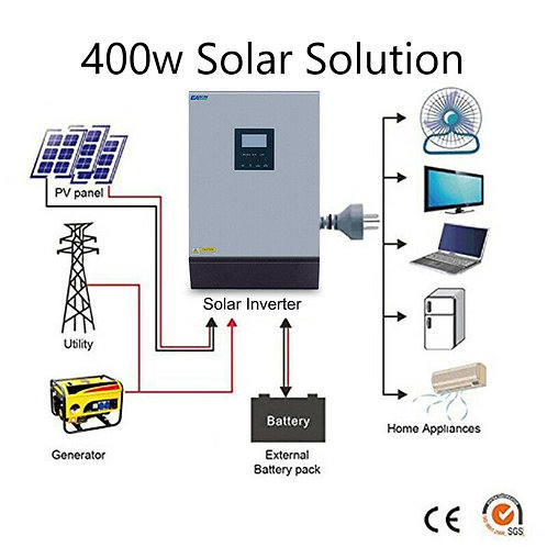 400w 220v off-grid or on-grid  solar installation kit with 150Ah AGM battery
