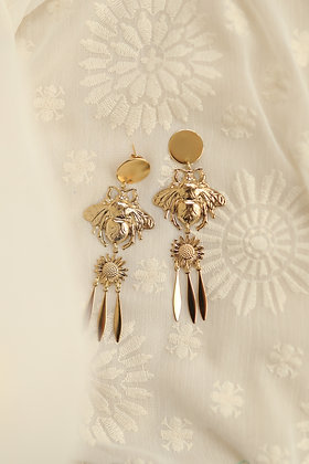 BEE MARGUERITTE gold CLIP