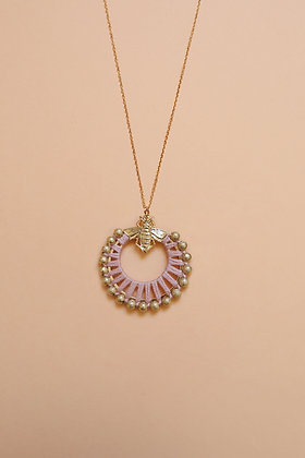 BEE FLOWER collier rose