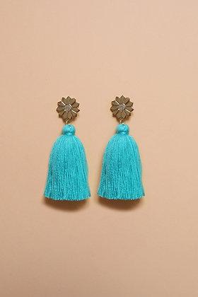 FLOWER pompon turquoise