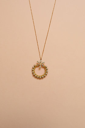LITTLE FLOWER collier moutarde