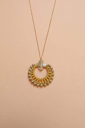 BEE FLOWER collier moutarde