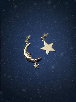 boucles d'oreilles MOON & STAR