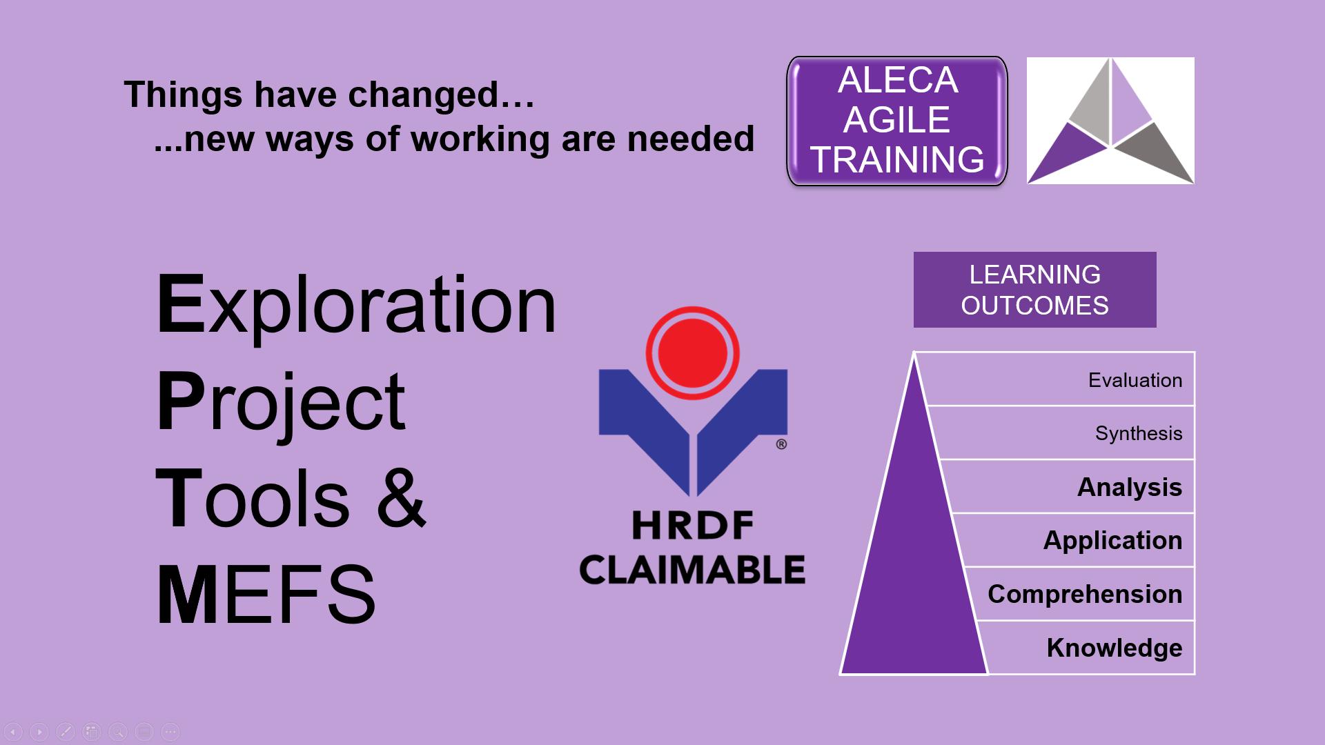 AGILE Exploration Project Tools & MEFS