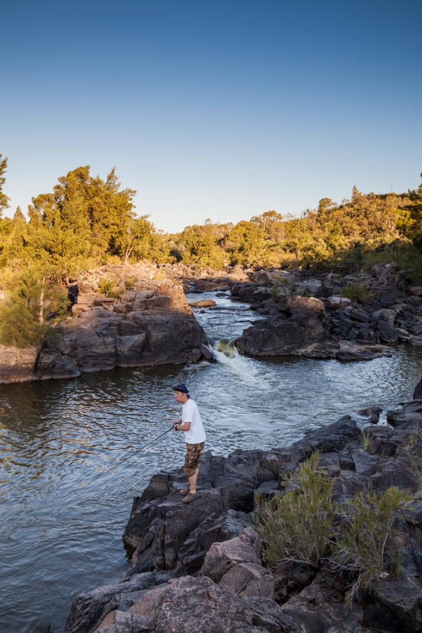 マーレーコッドが潜むオーストラリアの渓谷