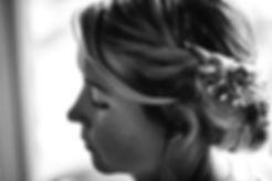 Wedding hair design, bridesmaid hair