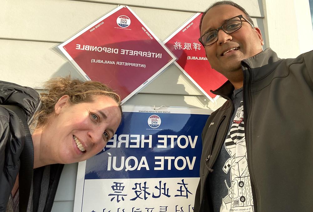 Cynthia And Sid Voting