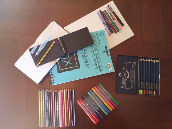 Materiales para mis dibujos