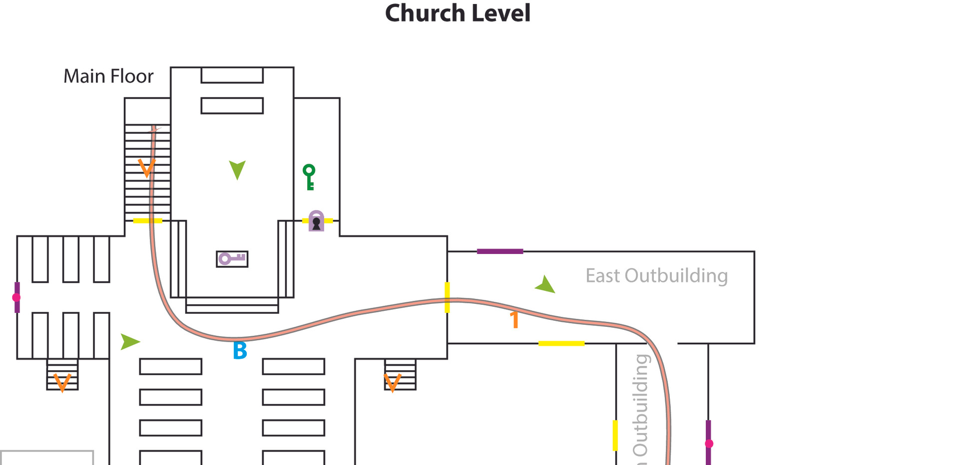 Church Level Design Drawing