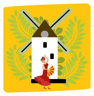 Spain Tourist Illustration