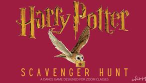 Harry Potter Scavenger Hunt- Dance Game Designed for Zoom Classes