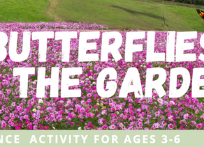 Butterflies In the Garden- A Dance Activity for Ages 3-6