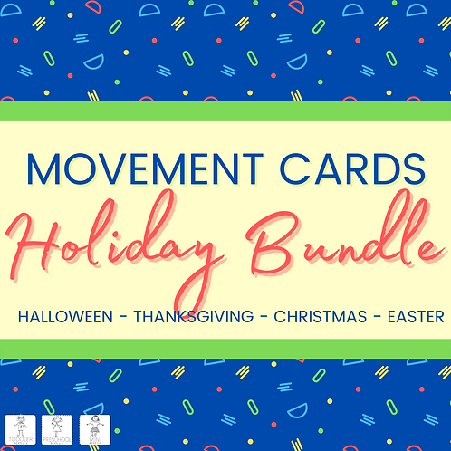Movement Cards- Holiday Bundle
