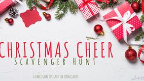 Christmas Scavenger Hunt- Dance Game Designed for Zoom Classes