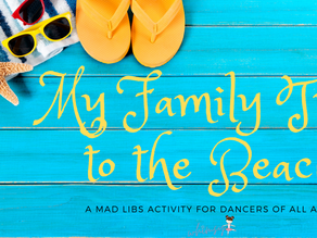 My Family Trip to the Beach- MAD LIB Activity for All Ages