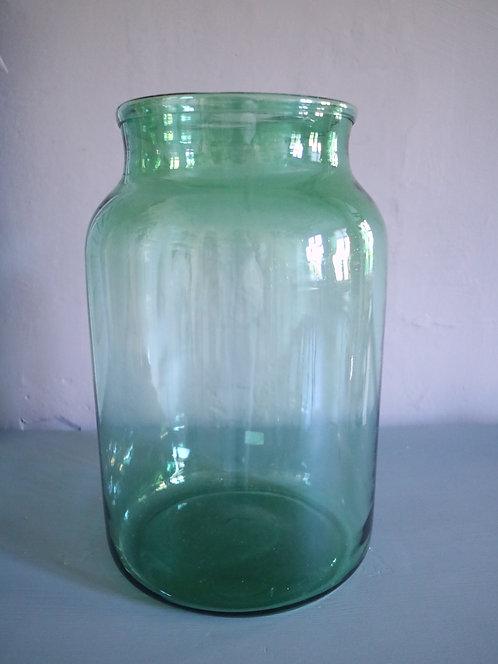 Grünes Einmachglas / Vase