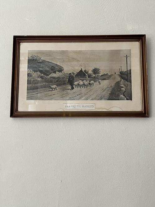 Vintage Bild schwarz-weiß