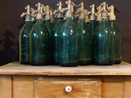 Vintage Soda Siphon 60er Jahre in grün