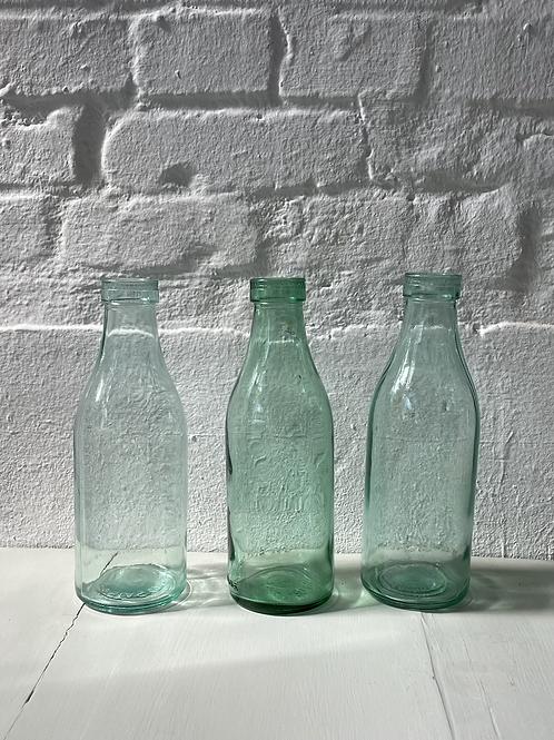 3er Set Glasflaschen