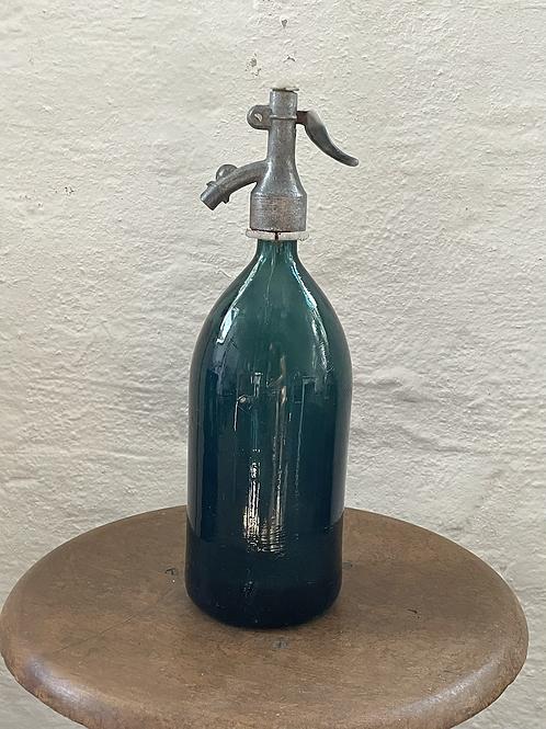 Vintage Soda Siphon in blau-grün