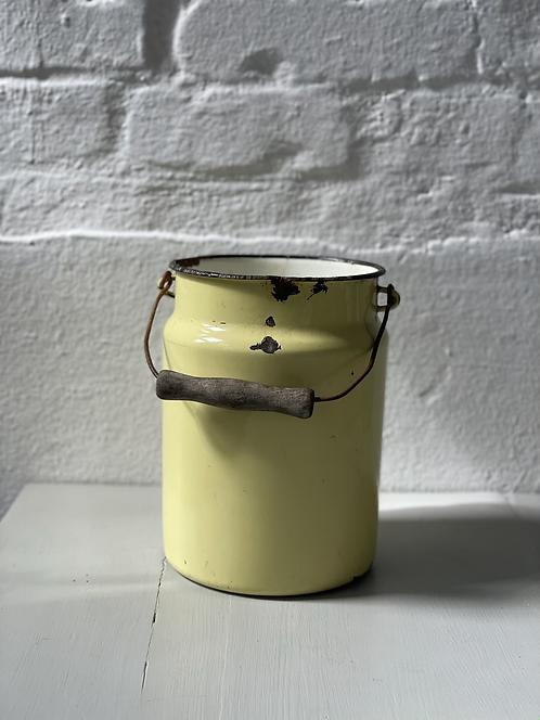 Emaille Milchkanne pastel gelb