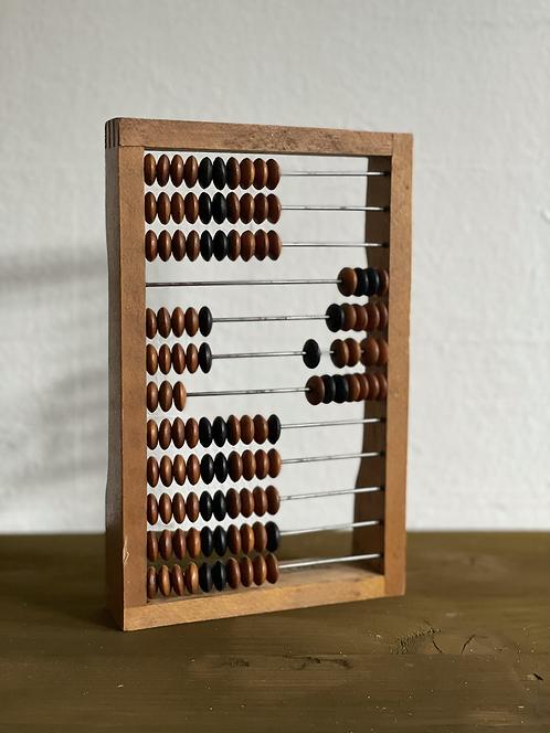 Kleiner Holzrechenschieber