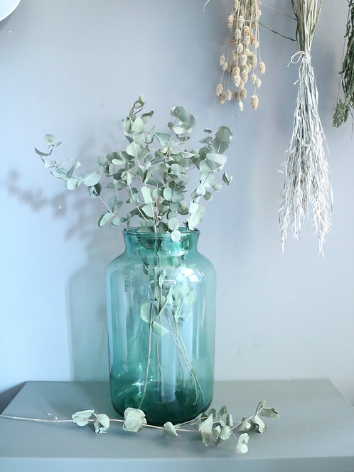 Grünes Glas / Vase XL