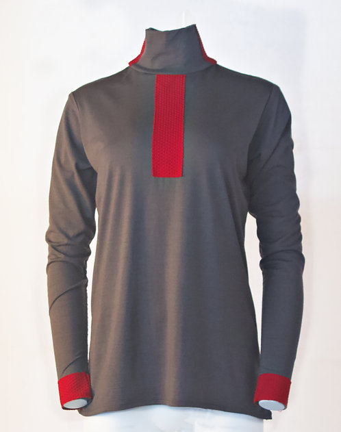 Merino Mock-neck