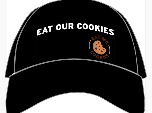 Black 'Eat Our Cookies' Trucker Hat