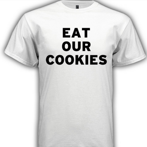White 'Eat Our Cookies' T-shirt